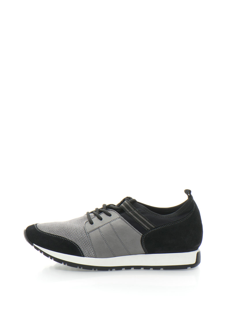 Gino Rossi Pantofi sport slip-on de piele si material textil Valkiria