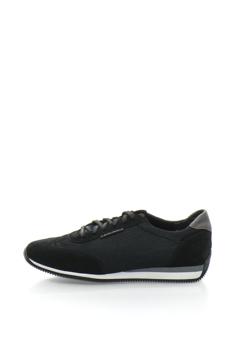 Pantofi sport cu garnituri de piele intoarsa Torino