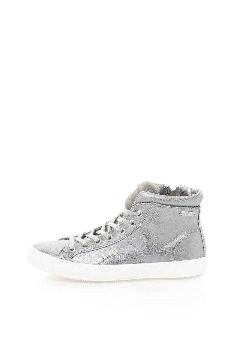 Pantofi sport inalti de piele sintetica Clinton Sally de la Pepe Jeans