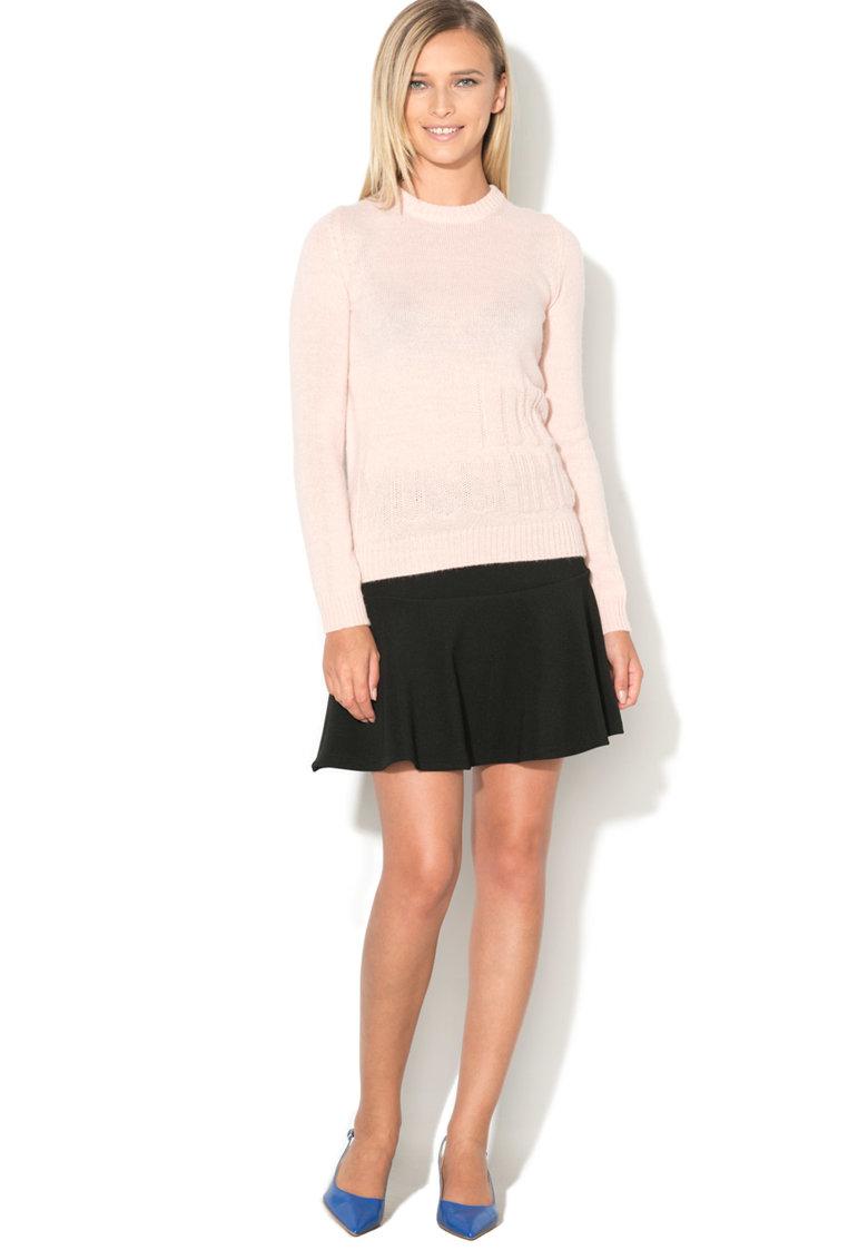 Love Moschino Pulover tricotat cu logo stantat