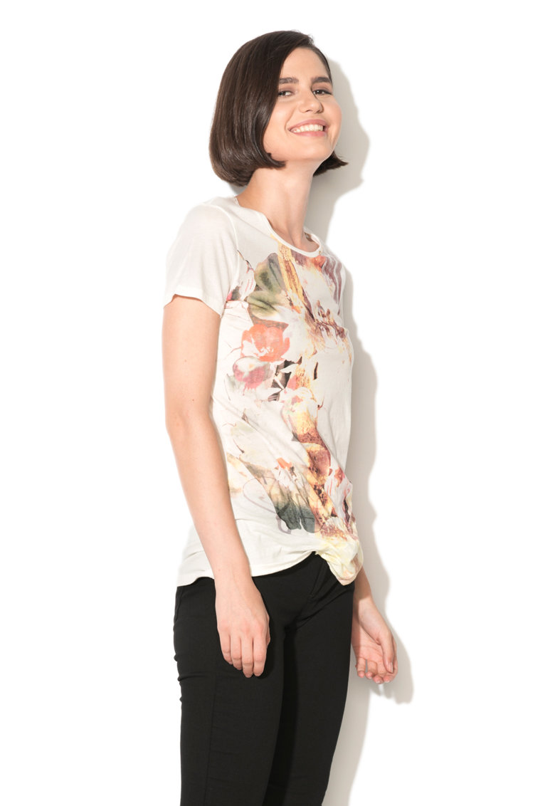 GAS Tricou cu imprimeu abstract Bloom
