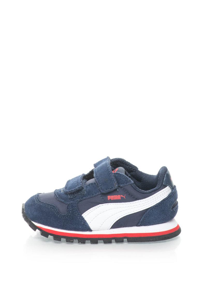 Puma Pantofi sport cu garnituri de piele intoarsa ST Runner NL V Inf