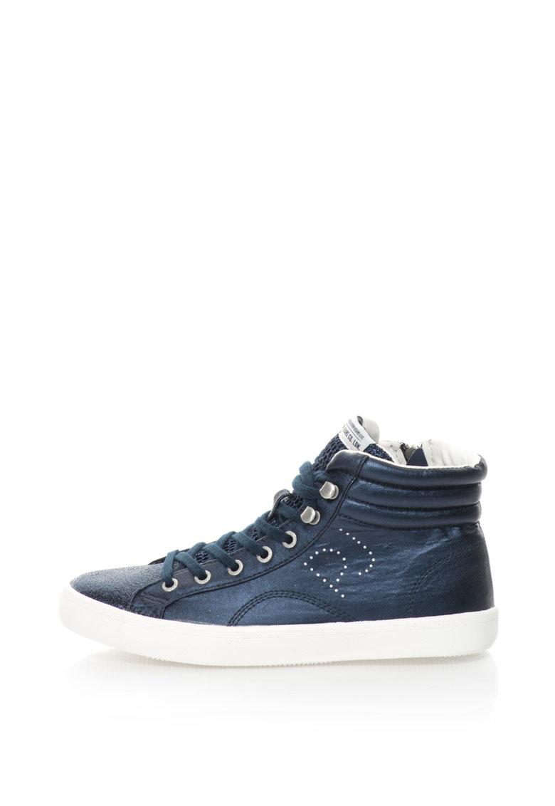 Pepe Jeans Pantofi sport mid-high stralucitori Clinton