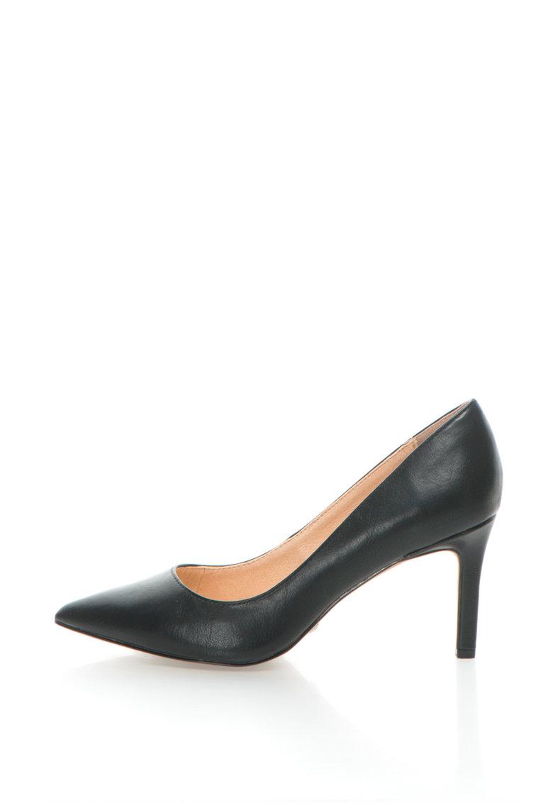 Pantofi de piele sintetica cu varf ascutit Buffalo