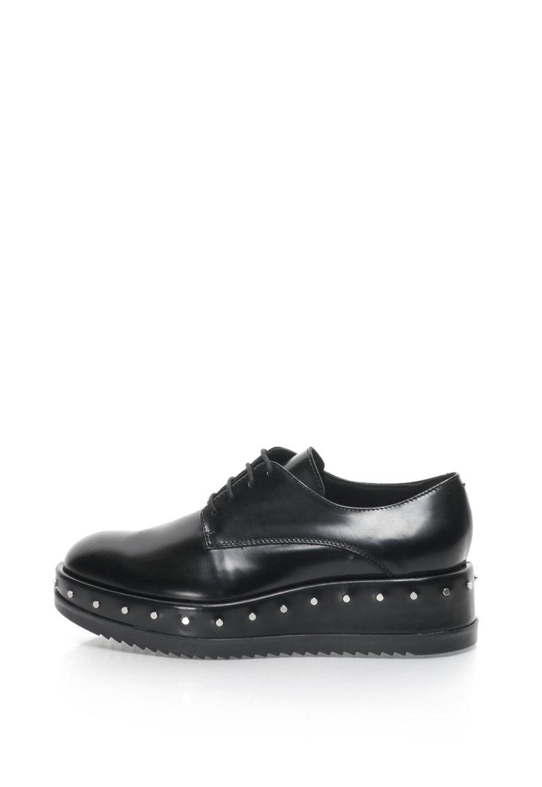 Pantofi wedge de piele Civetta