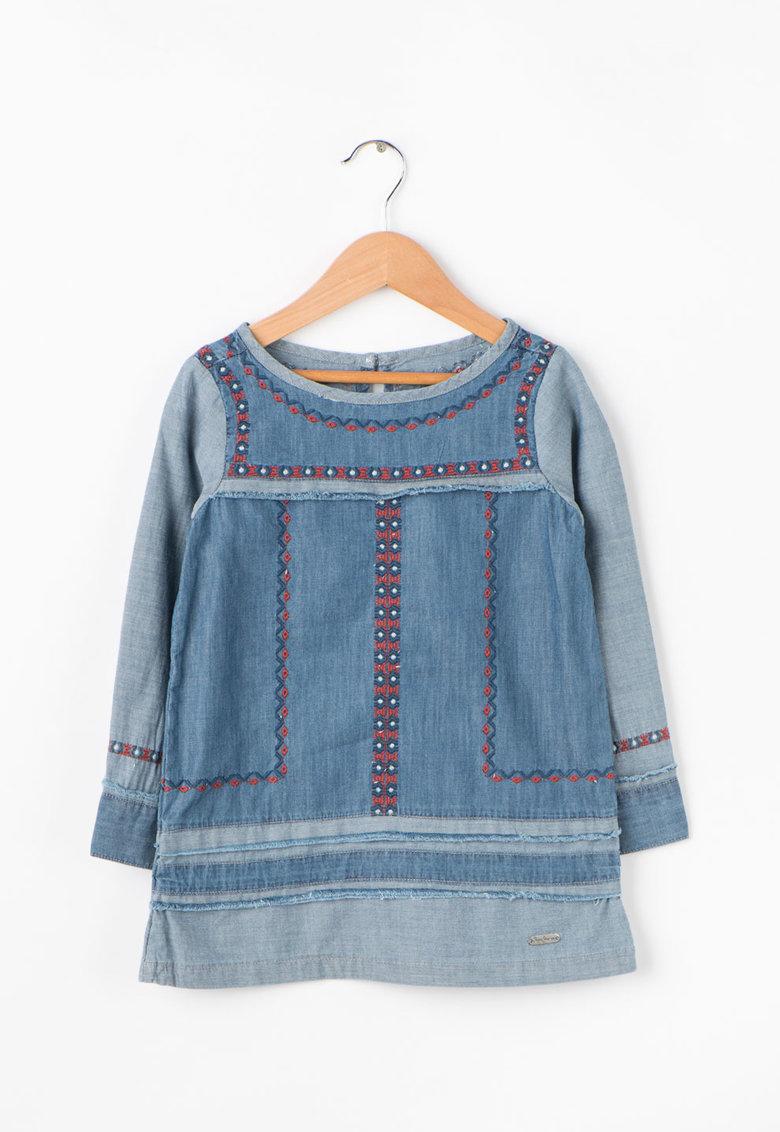 Rochie de chambray cu imprimeu etnic Dakota JR de la Pepe Jeans London