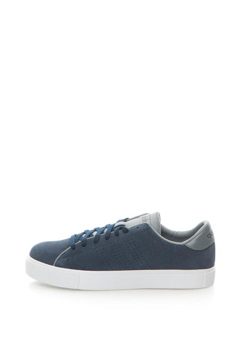 adidas NEO – Pantofi sport de piele intoarsa Daily Line – Bleumarin prafuit/Gri