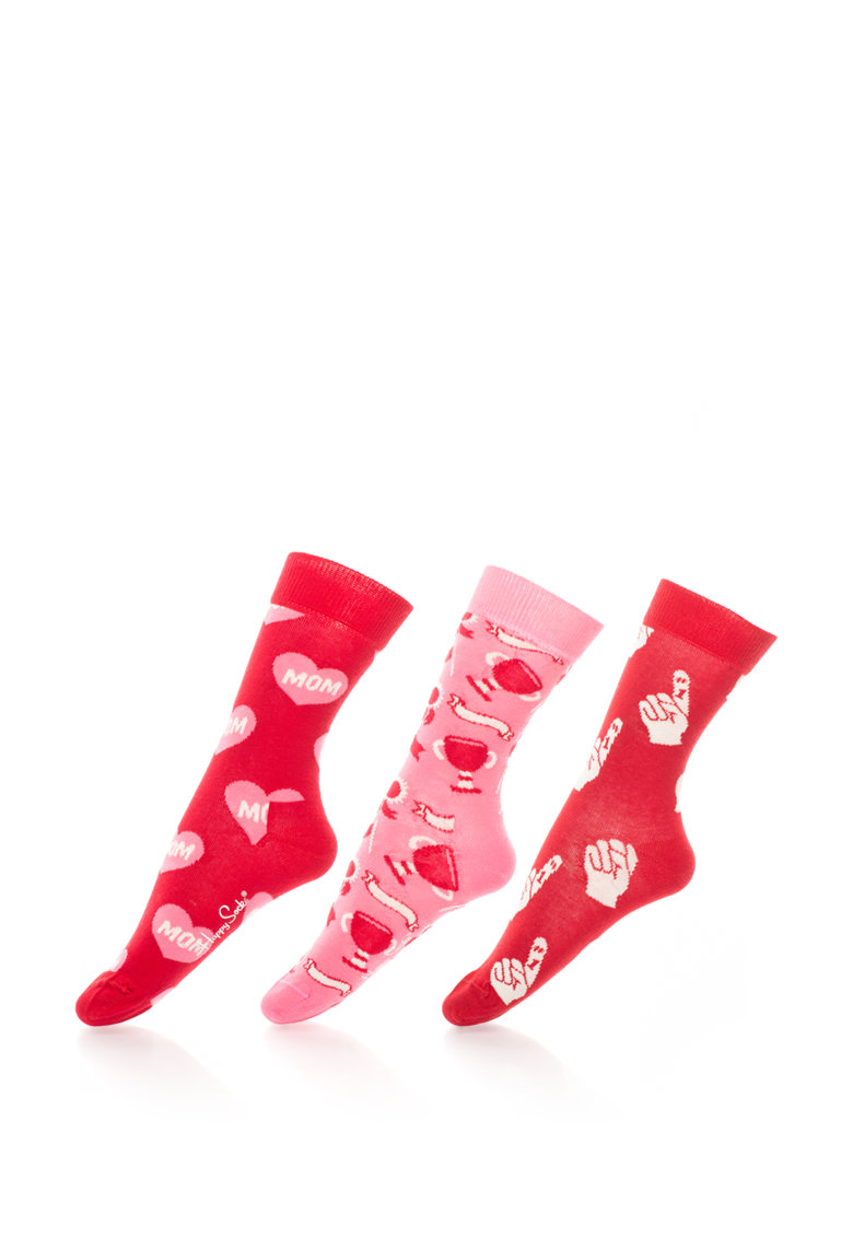 Happy Socks Set cadou de sosete cu model Mother's Day – 3 perechi