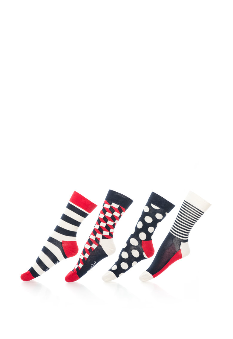 Happy Socks Set de sosete 3/4 cu diverse modele – unisex – 4 perechi