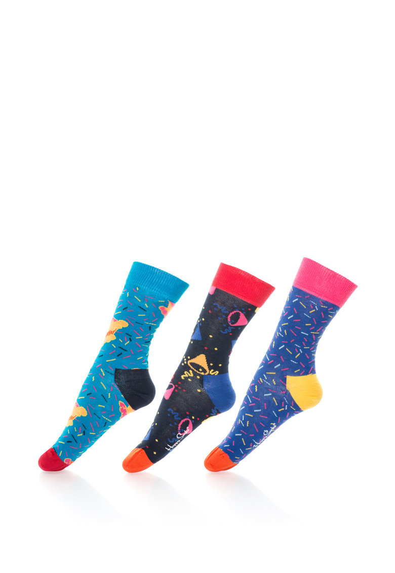 Happy Socks Set de sosete 3/4 livrate in cutie care canta