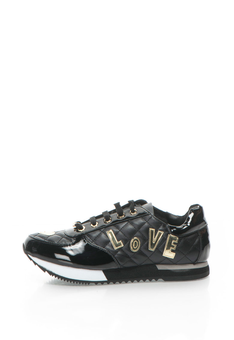 Love Moschino Pantofi sport cu aplicatii