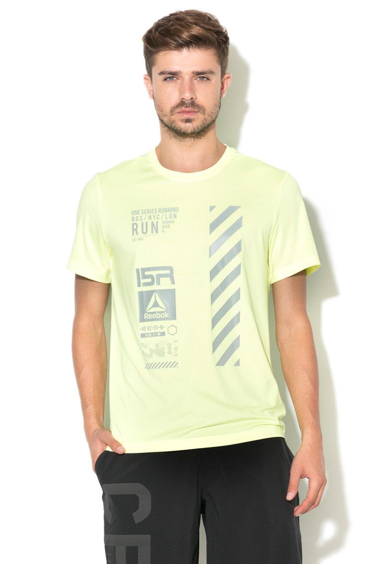 Reebok Sport Reebok – Tricou cu imprimeu pentru alergare