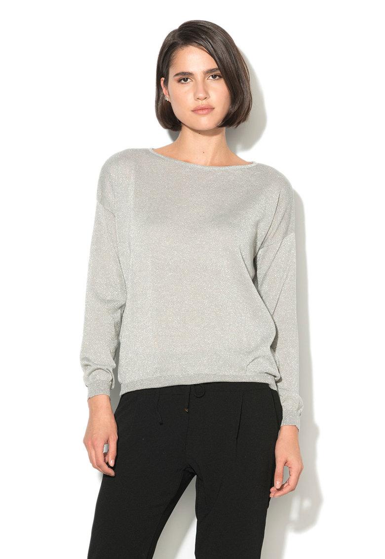 Alcott Pulover lejer – din tricot fin – cu insertii lucioase