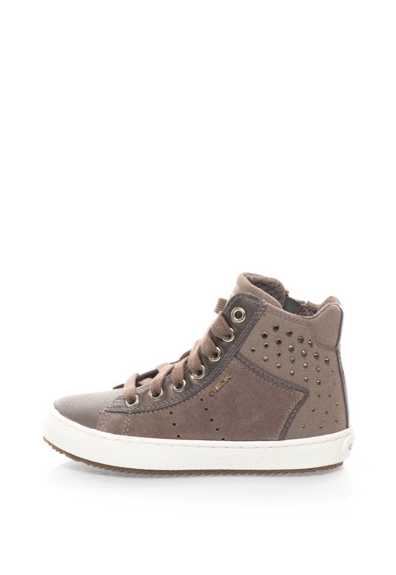 Geox Pantofi sport inalti cu strasuri Kalispera