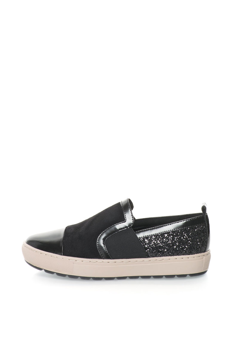 Geox Pantofi slip-on de piele intoarsa cu insertii stralucitoare Breeda