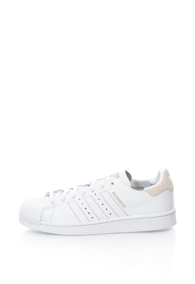 Adidas - Pantofi Sport Din Piele Si Piele Intoarsa Original Superstar Decon