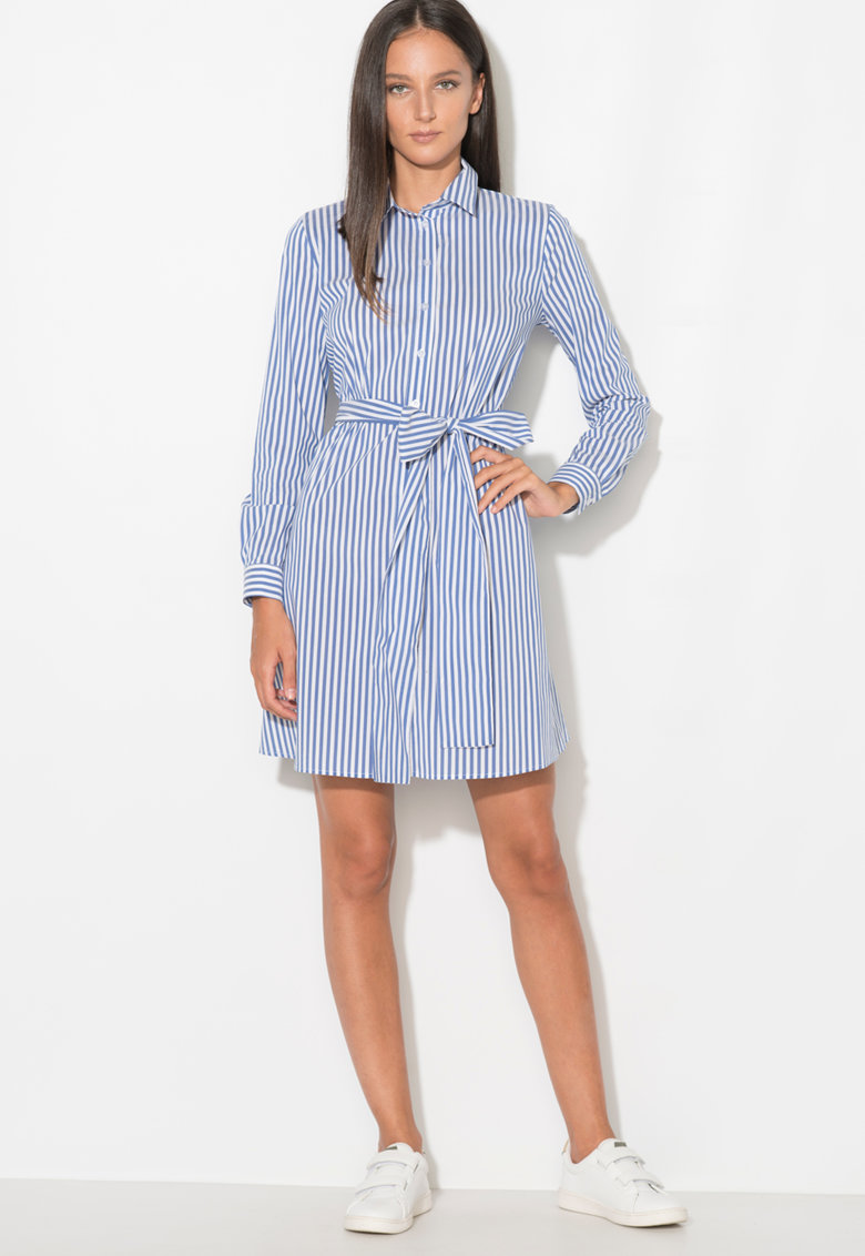 Zee Lane Denim Rochie tip camasa – in dungi