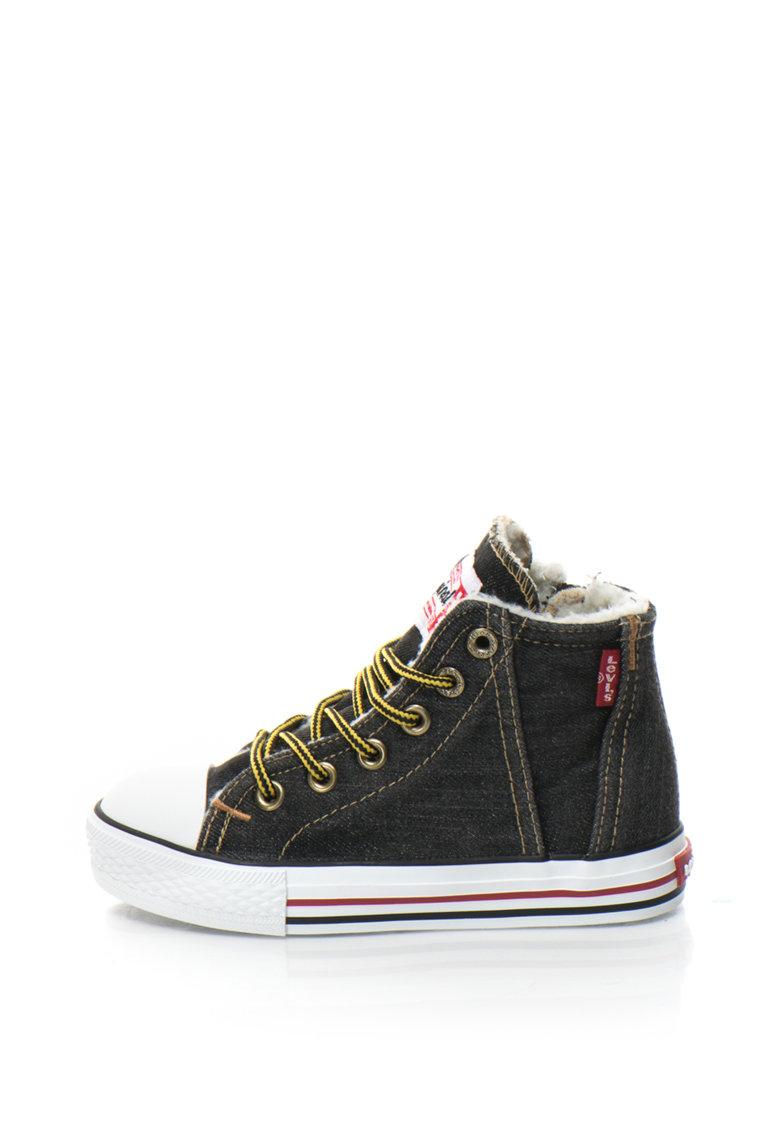 Pantofi sport inalti din denim cu blana sintetica Original Red Tab