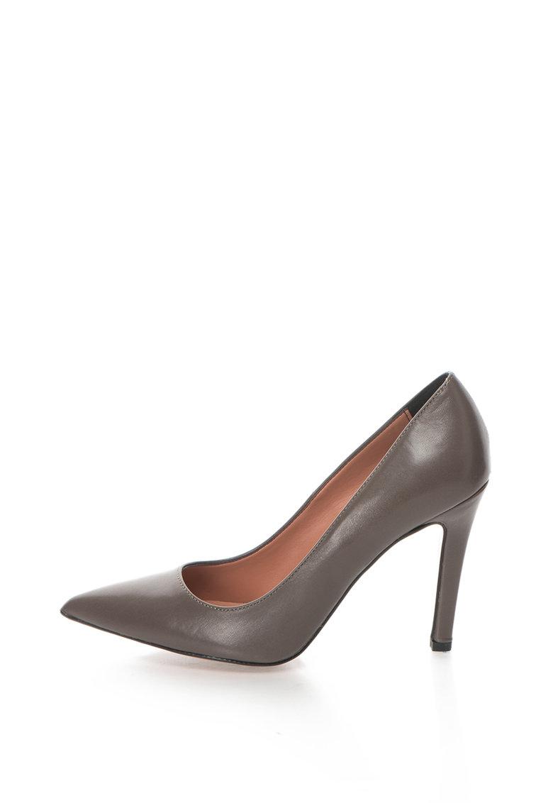 Pantofi stiletto de piele cu varf ascutit Anne de la Zee Lane