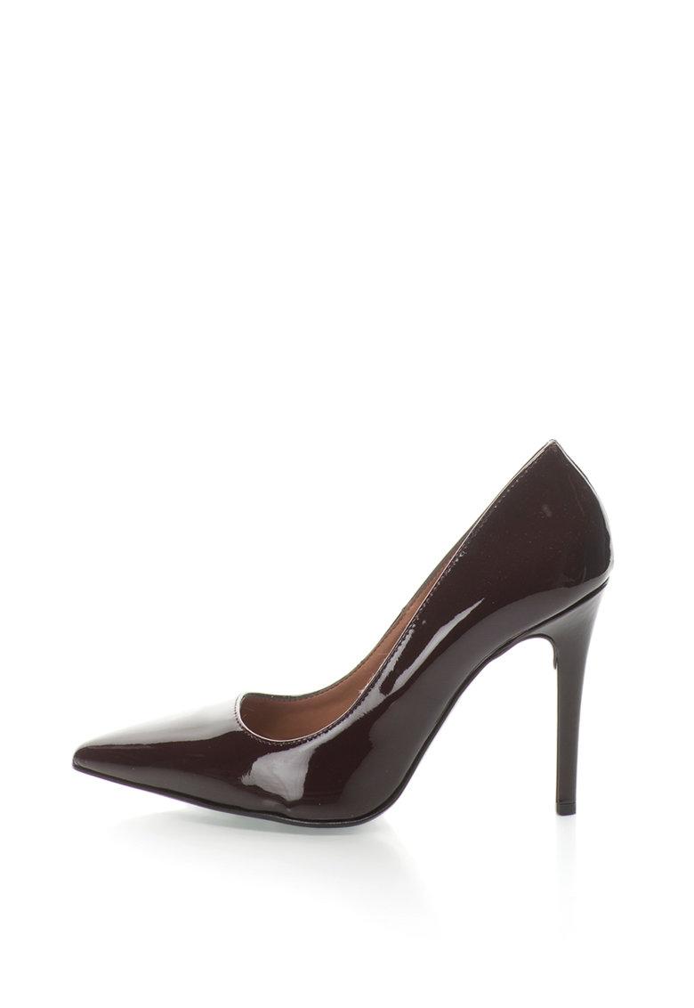 Pantofi stiletto de piele lacuita