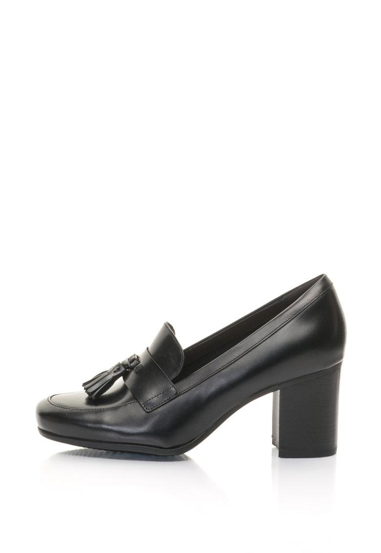 Clarks Pantofi loafer de piele cu toc mediu Kensett