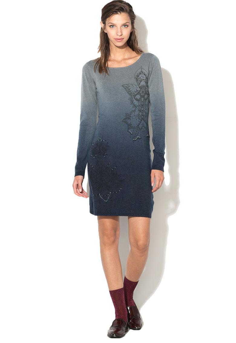 DESIGUAL Rochie de tricot fin cu margele Malaga