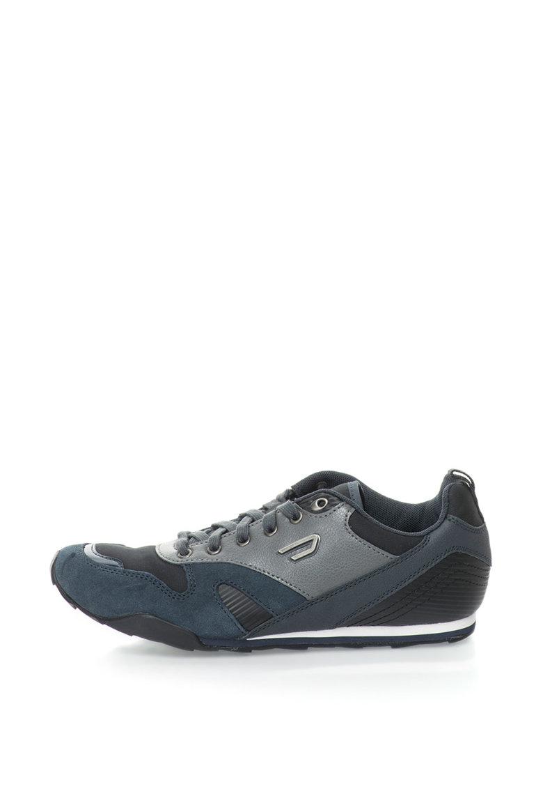 Pantofi Sport Cu Garnituri De Piele Si Piele Intoarsa Dynagg