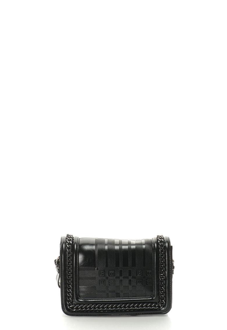 Geanta crossbody cu detalii din lant metalic de la Laura Biagiotti