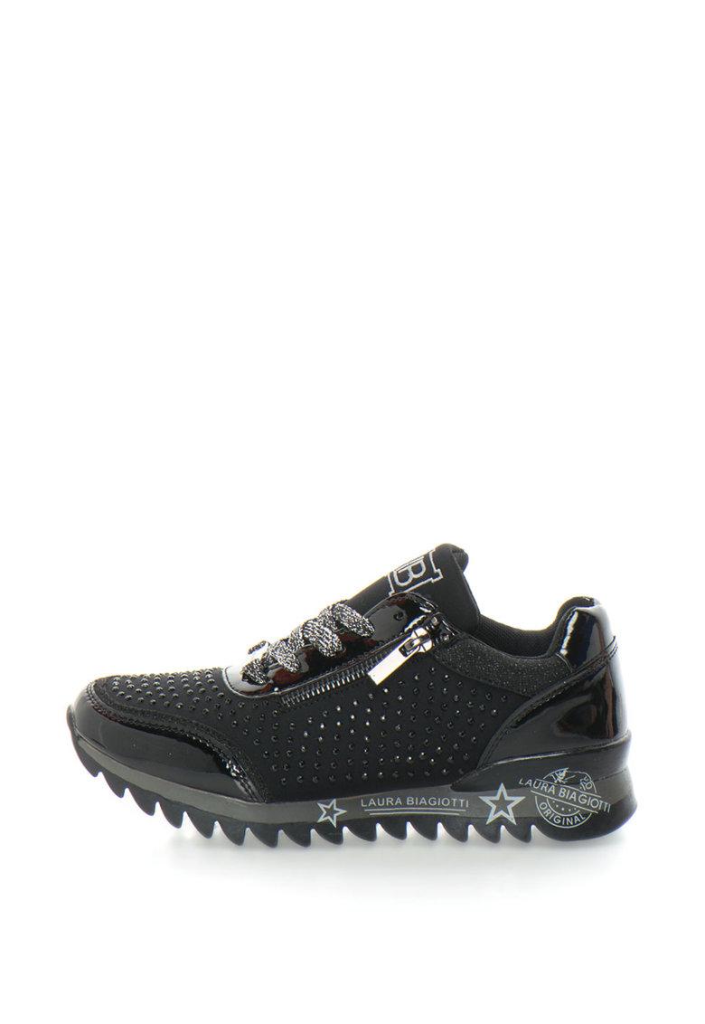 Laura Biagiotti Pantofi sport cu aplicatie ce strasuri