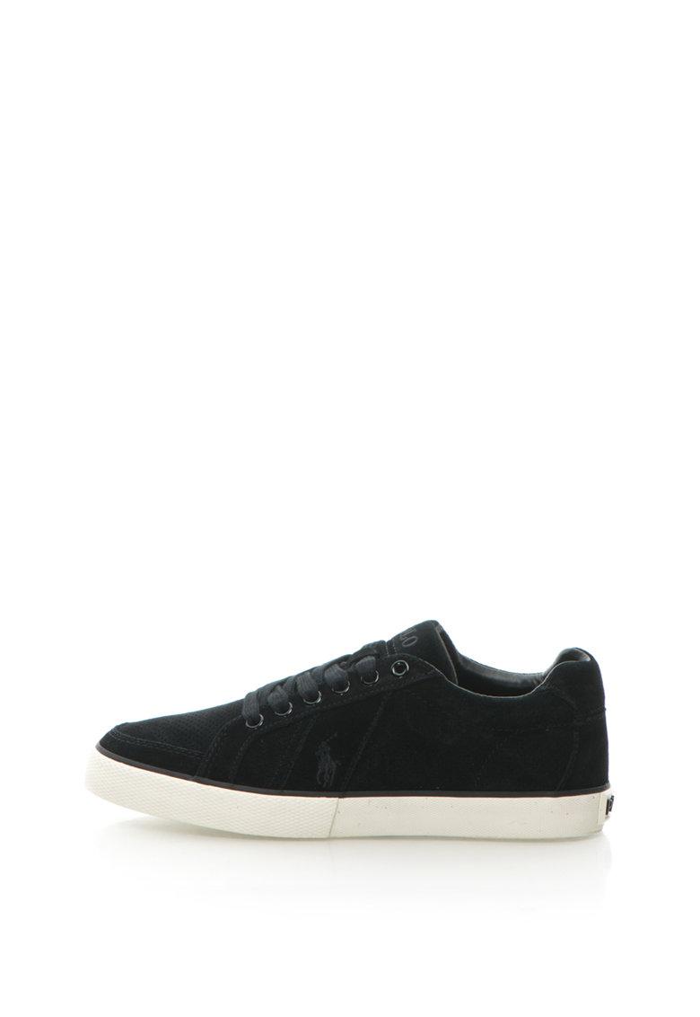 Pantofi sport de piele intoarsa cu perforatii Hugh de la Polo Ralph Lauren