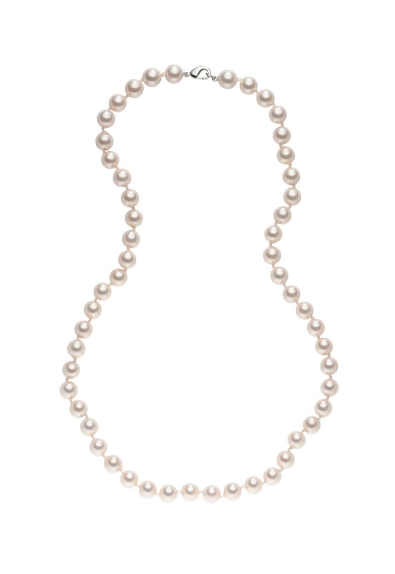 Zee Lane Colier placat cu rodiu cu perle sintetice