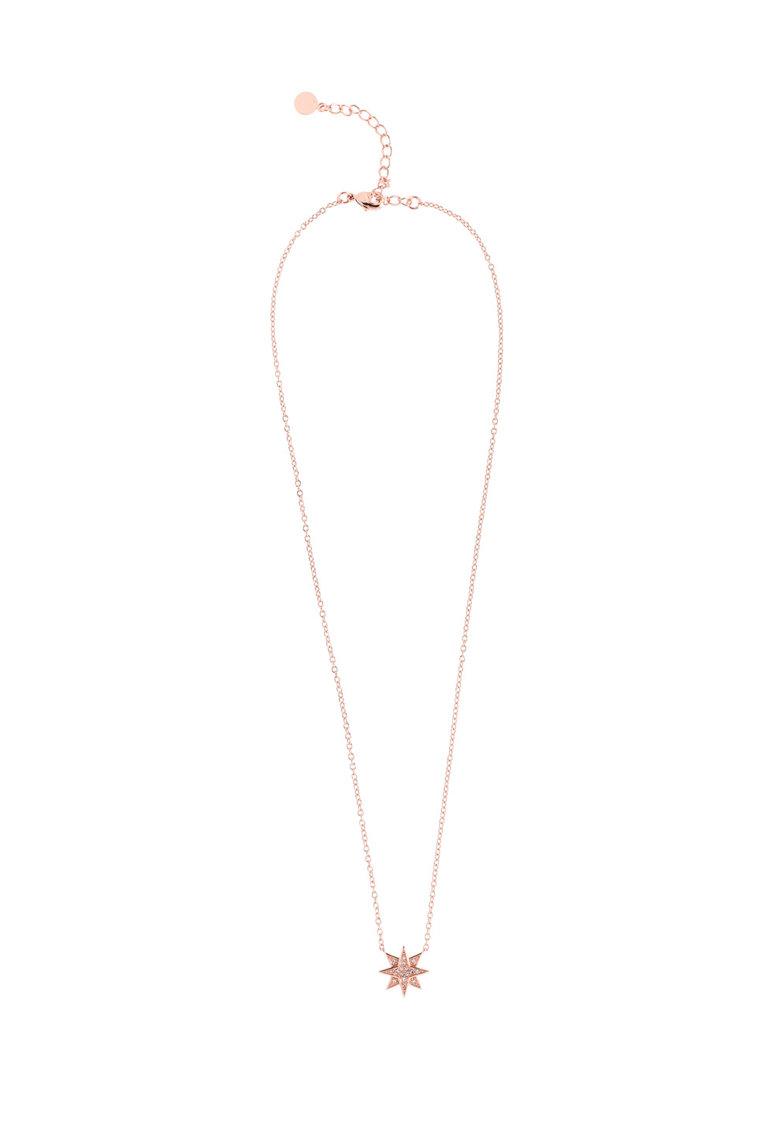 Colier Si Pandantiv Placate Cu Aur Rose De 14k Cu Cristale Swarovski®
