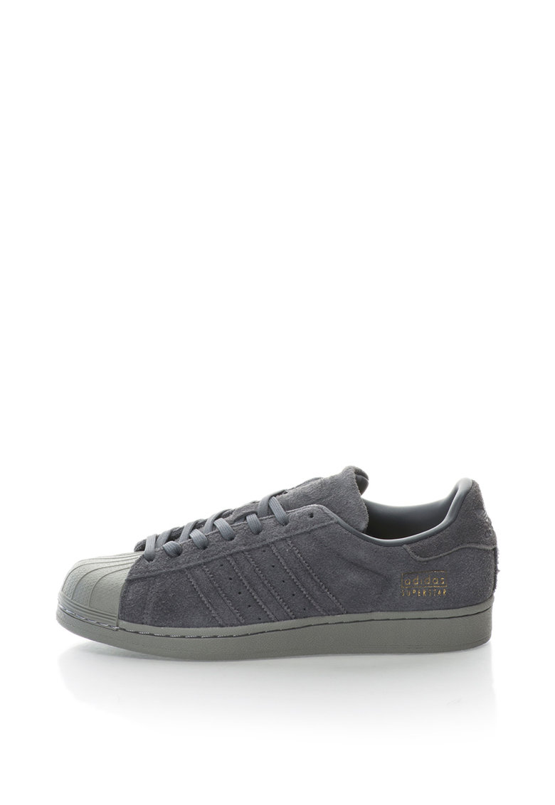 Adidas ORIGINALS Pantofi sport cu piele intoarsa Superstar
