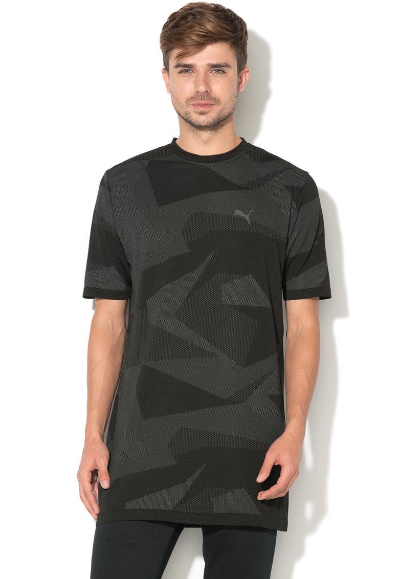 Tricou Cu Imprimeu Geometric Evoknit