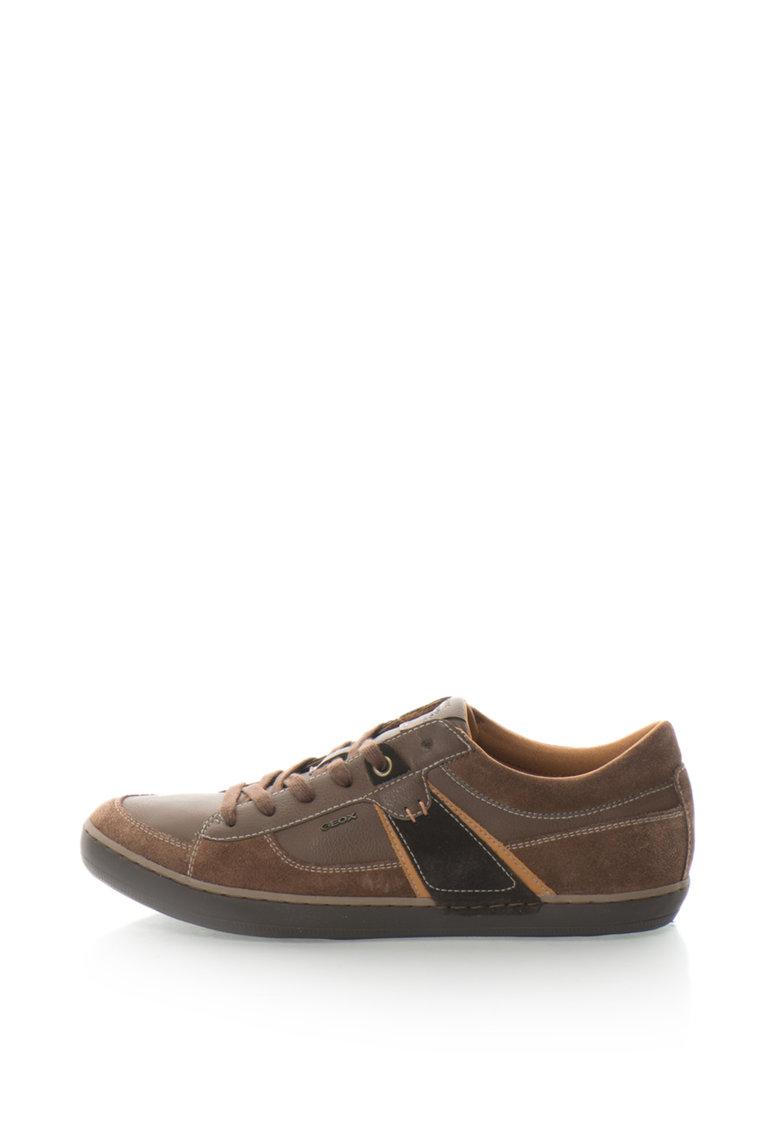 Geox Pantofi sport din piele sintetica Box