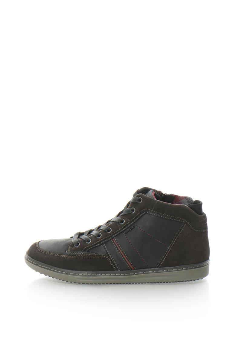 Pantofi Sport Mid-high Din Piele Si Piele Intoarsa Austen
