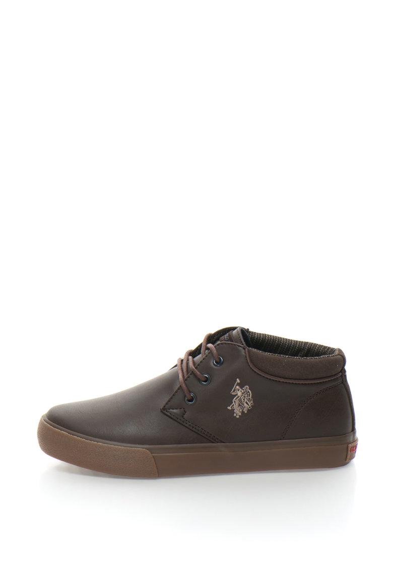 US Polo Assn Pantofi sport chukka cu broderie logo Sherman