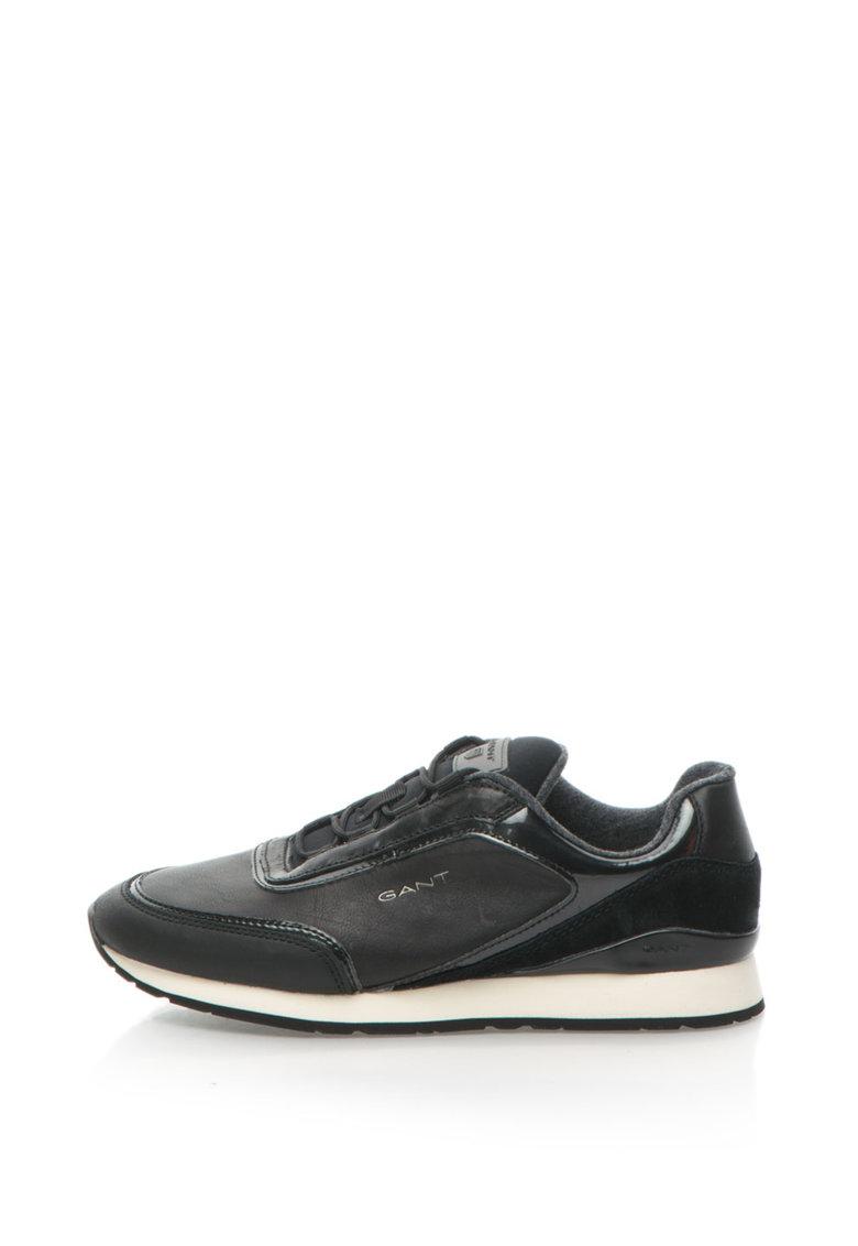 Pantofi Sport De Piele Si Piele Intoarsa Linda