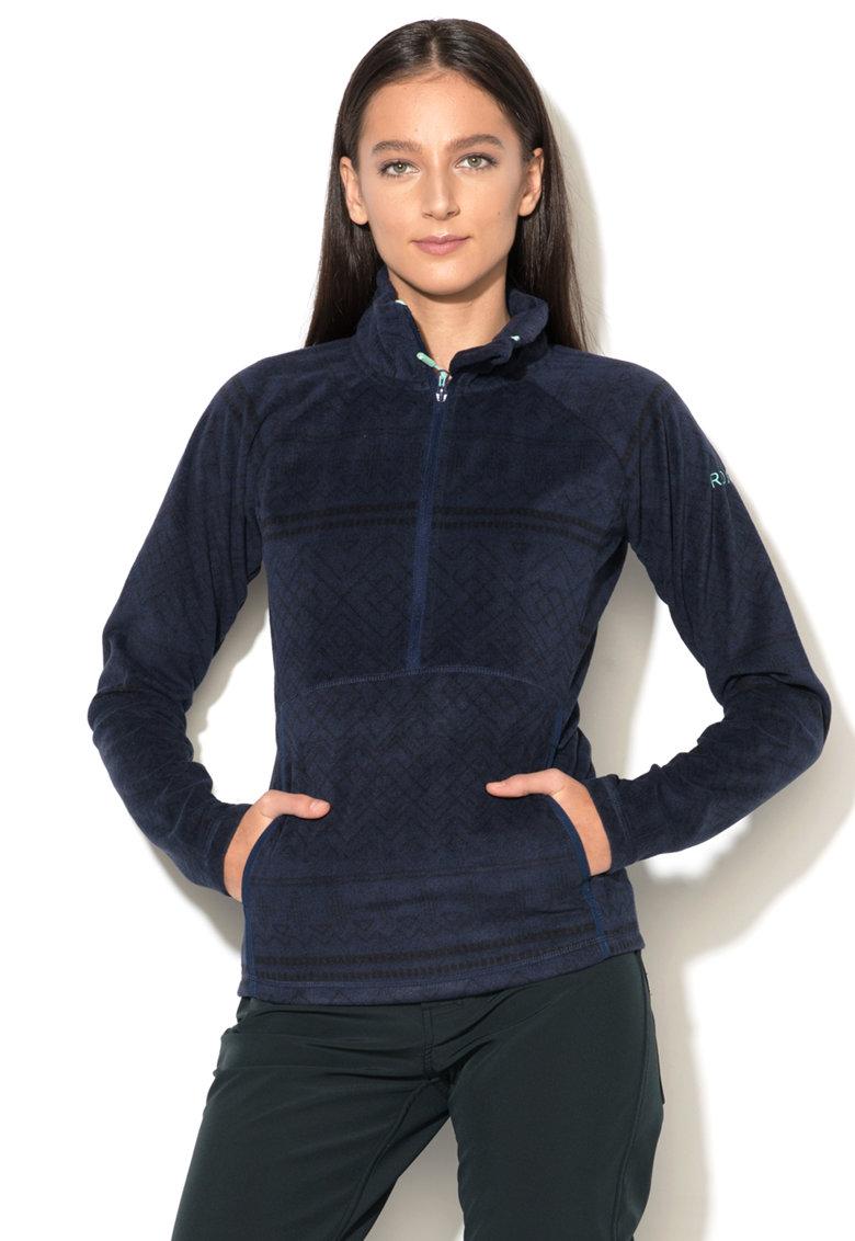 ROXY Bluza sport de fleece cu fenta si fermoar