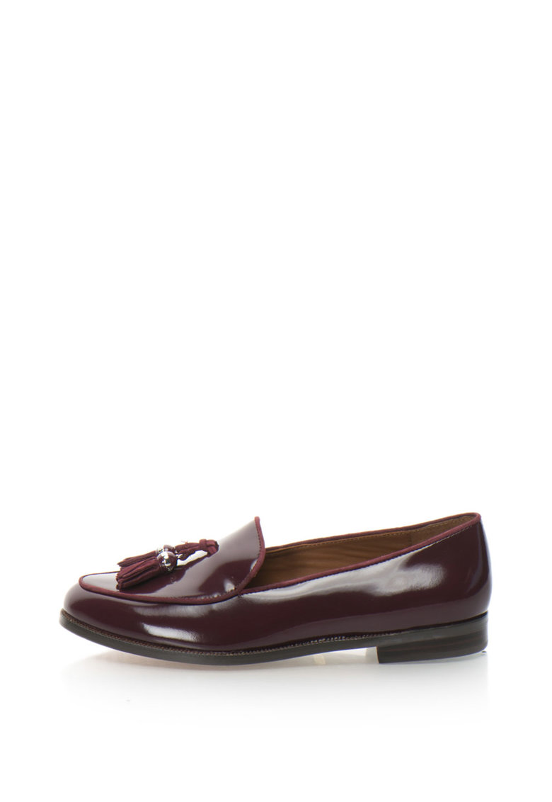 Pantofi loafer de piele lacuita cu canafi Brindy