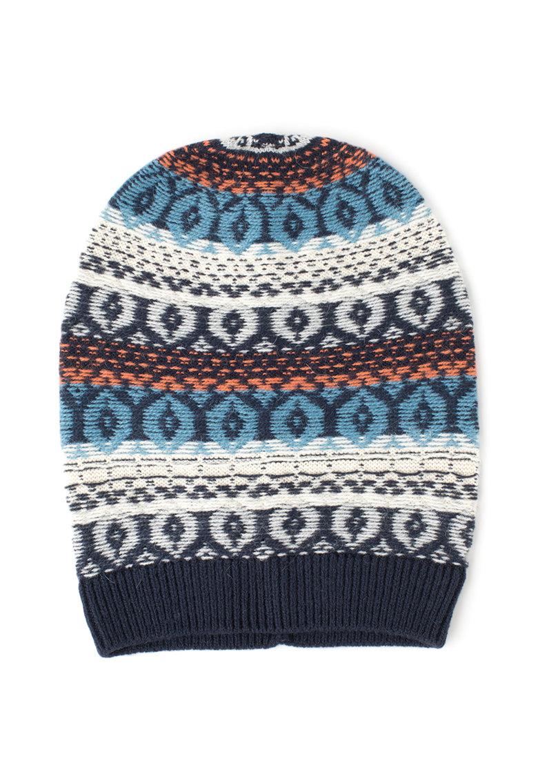 United Colors of Benetton Caciula tricotata cu model etnic
