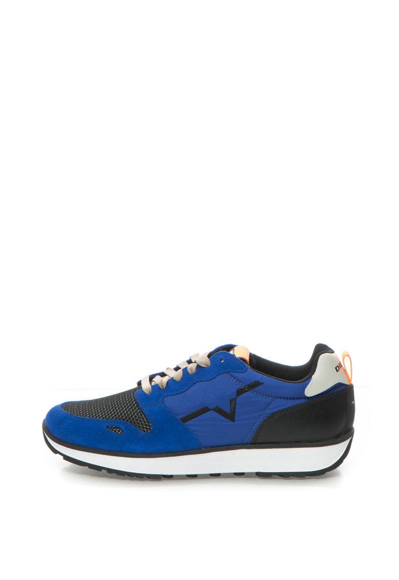 Pantofi sport cu garnituri de piele intoarsa Diesel