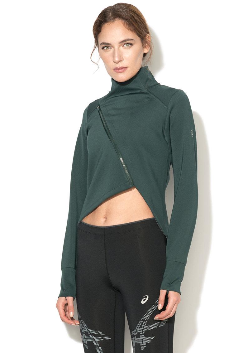 Jacheta pentru alergare cu fermoar asimetric FuzeX de la Asics – 146627-4003