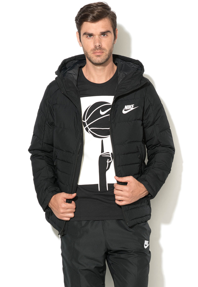 Nike Jacheta cu umplutura de puf si gluga ajustabila