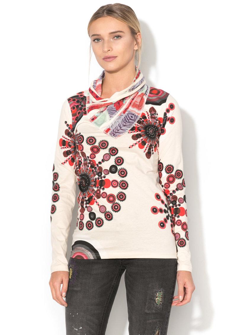 DESIGUAL Bluza cu decolteu drapat Bruna