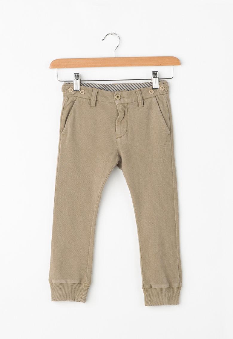 Diesel Pantaloni chino din jerseu cu mansete elastice Pirry