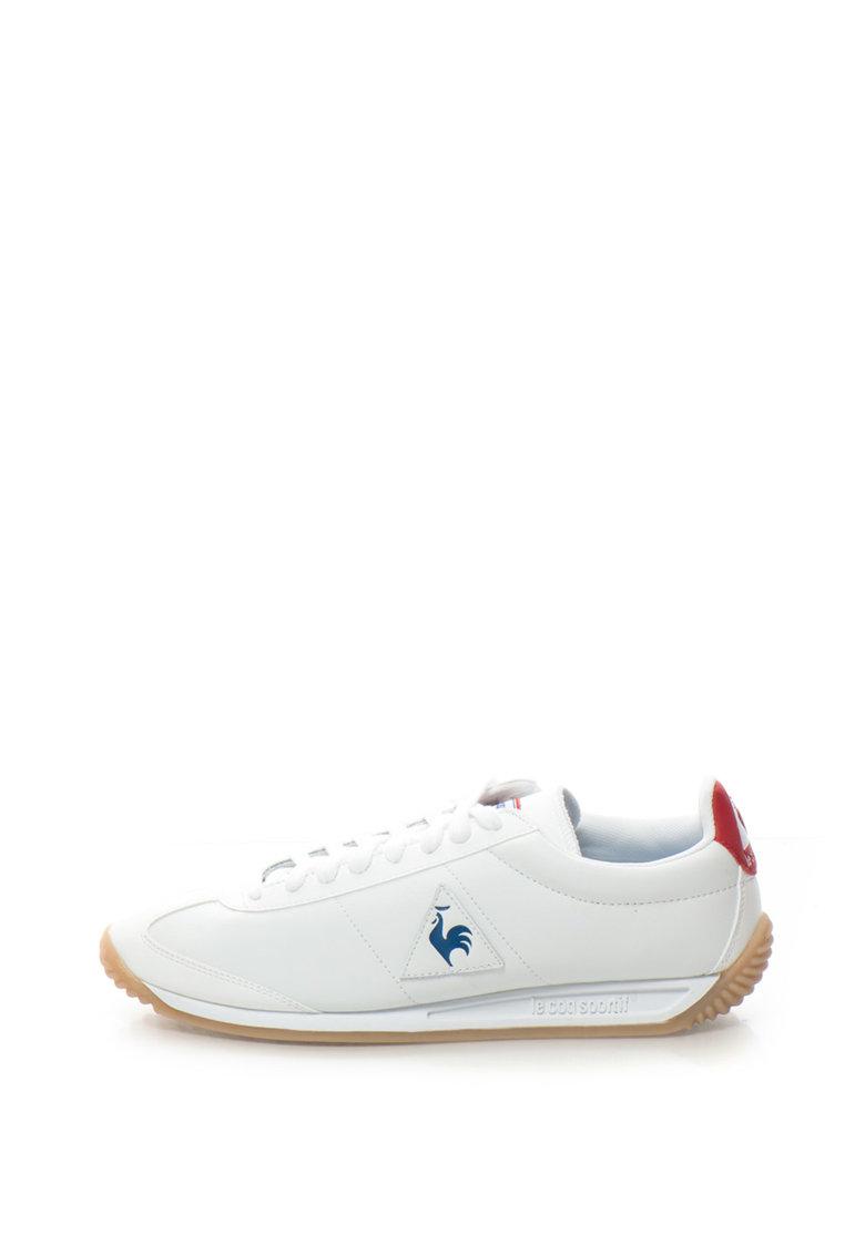 Le Coq Sportif Pantofi sport cu logo si garnituri de piele Quartz Lea