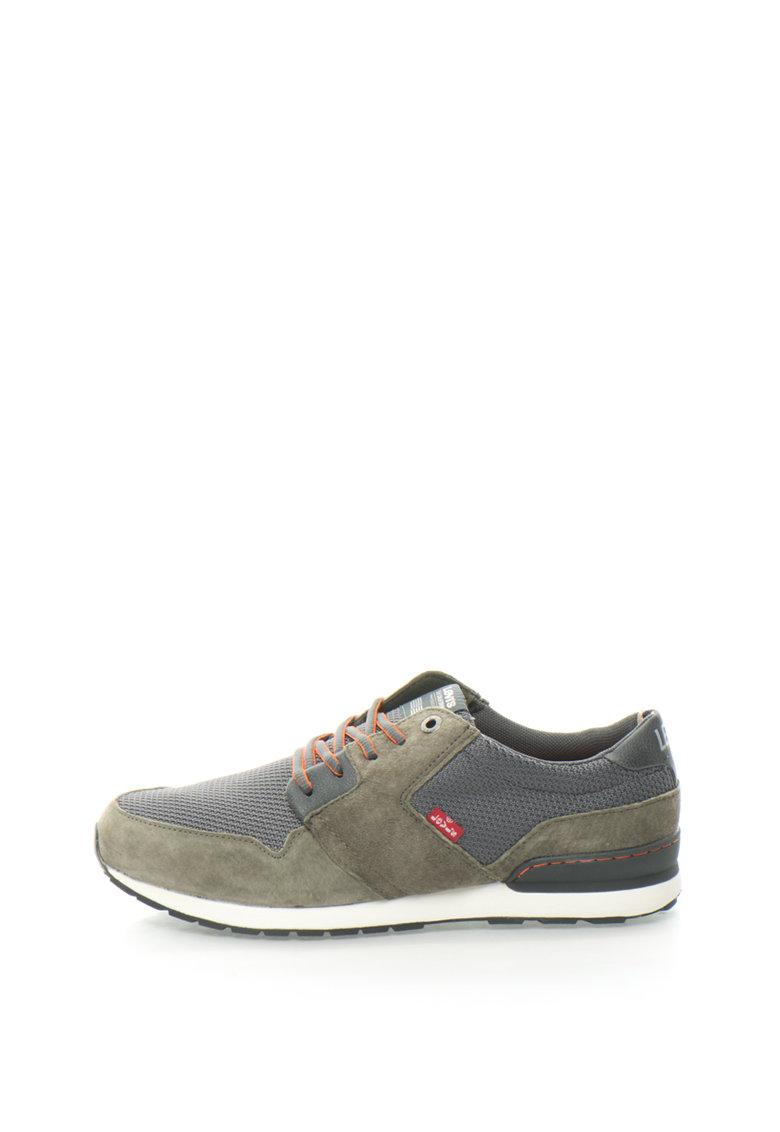 Pantofi Sport Cu Insertii De Piele Intoarsa Si Plasa