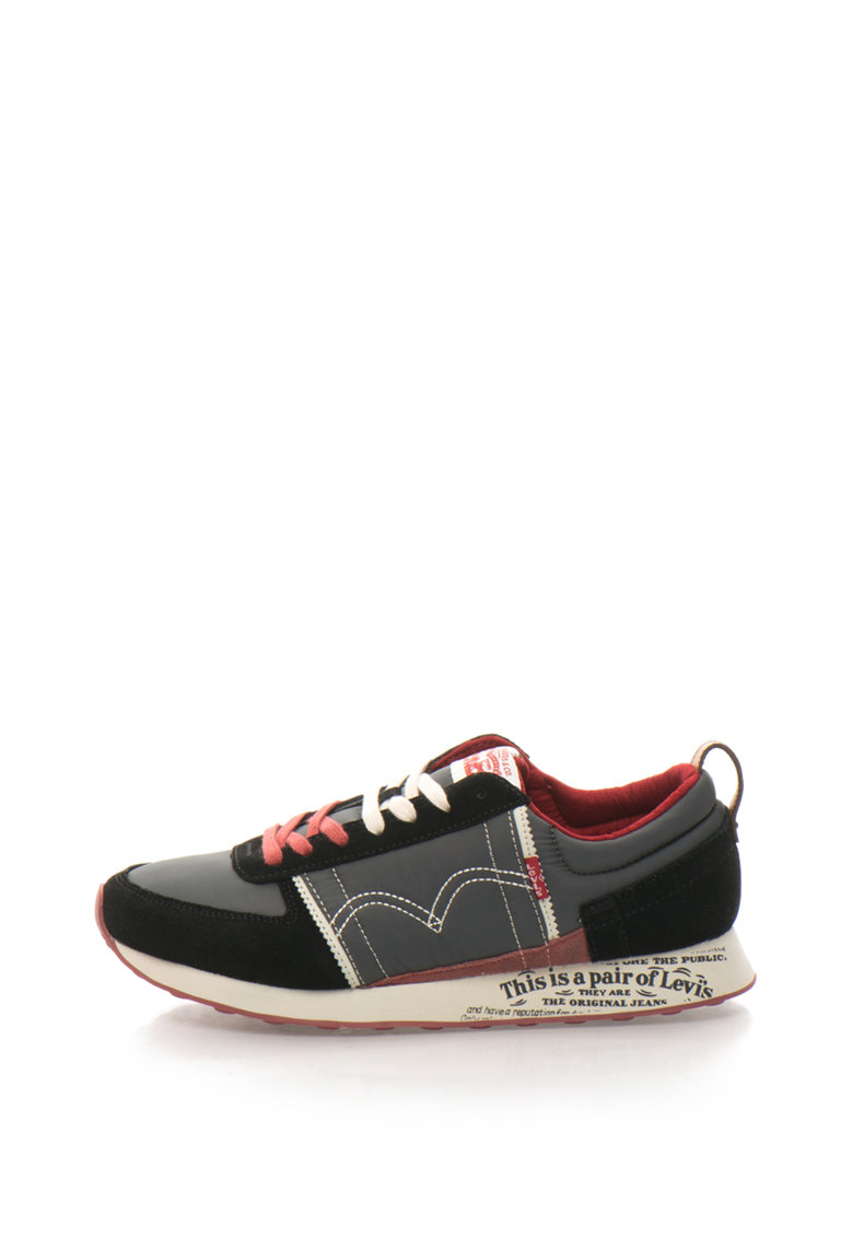 Pantofi sport cu garnituri de piele intoarsa Levis