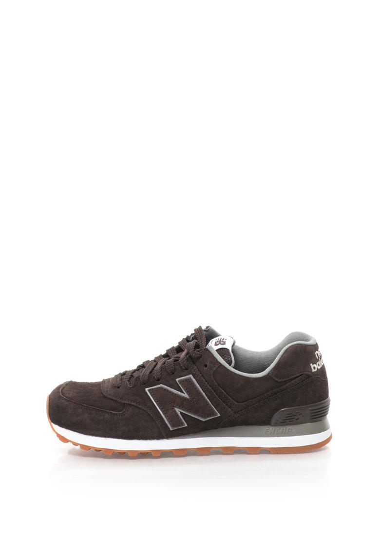 Pantofi sport de piele intoarsa cu logo 574 de la New Balance